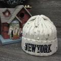 """Бежевая зимняя шапка """"Нью-Йорк"""" New York Beanie Beige"""