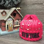 """Розовая зимняя шапка """"Нью-Йорк"""" New York Beanie Pink"""