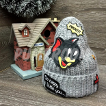 "Серая зимняя шапка ""Том"" Tom and Jerry Beanie Gray"