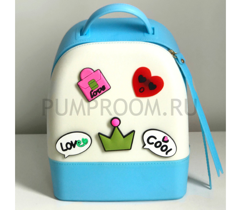 c3711b81da55 -23% Голубой/белый силиконовый рюкзак Mini Silicone Backpack Blue White Love