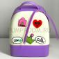 Фиолетовый/белый силиконовый рюкзак Mini Silicone Backpack Violet White Love