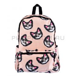 Розовый городской рюкзак котятами Pink Cat Face Backpack