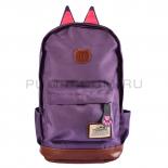 Фиолетовый женский рюкзак с кошачьими ушками Polyester Cat Ear Backpack Violet 2016