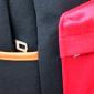 Чёрный/красный тканевый городской рюкзак School Backpack MM Red Black