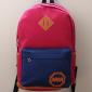 Малиновый/синий тканевый городской рюкзак School Backpack MM Raspberries Blue