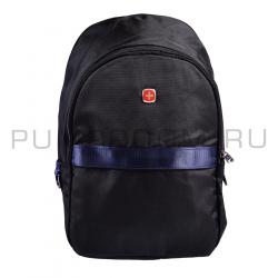 Чёрный городской-туристический рюкзак Swiss Black