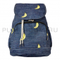 Синий джинсовый рюкзак-мешое с бананами Backpack Sack Jeans Banana Blue