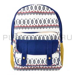 """Синий тканевый рюкзак """"Этнос"""" Ethnic Backpack Blue 1"""