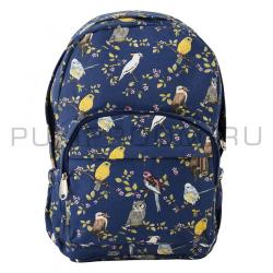 Тёмно-синий рюкзак с птицами Birds Backpack Navy Blue