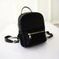 Чёрный вельветовый мини рюкзак Velvet Black Backpack Mini