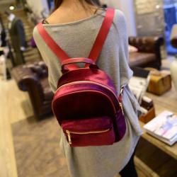 Бордовый вельветовый мини рюкзак Velvet Bordo Backpack Mini