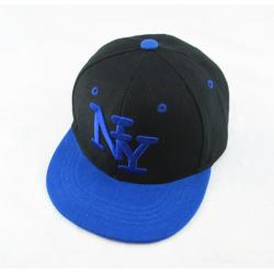 Чёрная/синяя детская бейсболка Kid Snapback New York Black Blue