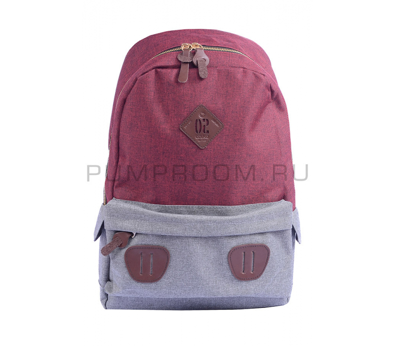 f735bdd7e559 -57% Бордовый/серый тканевый городской рюкзак Ozuko Backpack Gray Dark Red  Big