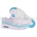 Белые/мятные женские кроссовки Nike Air Max 1 Essential Women White Tiffany Mint
