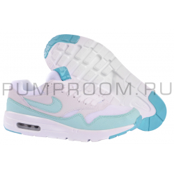 a4ac5454 Белые/мятные женские кроссовки Nike Air Max 1 Essential Women White Tiffany  Mint