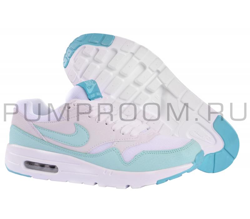 3c858293 Белые/мятные женские кроссовки Nike Air Max 1 Essential Women White Tiffany  Mint