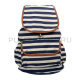 Синий городской рюкзак-мешок в полоску Backpack Zebra Blue White 2016