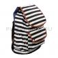 Чёрный городской рюкзак-мешок в полоску Backpack Zebra Black White 2016