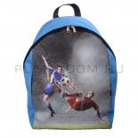 Синий городской рюкзак с капюшоном Football Blue Backpack SL