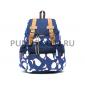 Синий городской рюкзак-мешок с китами Whale Backpack Blue Sack