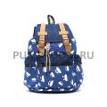 Синий городской рюкзак-мешок с овечками Sheep Backpack Blue Sack