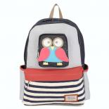 Джинсовый городской рюкзак с Совой Jeans Backpack Nikki Owl MID