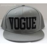 Серая бейсболка с прямым козырьком Vogue Snapback Gray Black
