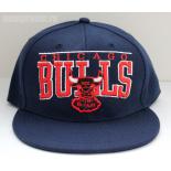 Темно-синяя бейсболка с прямым козырьком Chicago Bulls Windy City Snapback Navy Blue