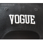 Черная/белая бейсболка с прямым козырьком Vogue Snapback Black White