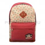 Красный тканевый рюкзак с якорями Paul Frank Backpack Anchor Matt Red