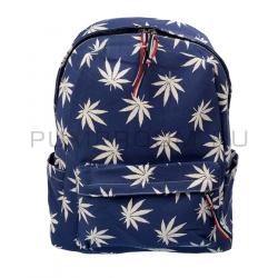 Синий тканевый рюкзак Backpack Marijuana France Blue