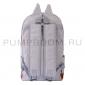 Серый женский рюкзак с кошачьими ушками Canvas Cat Ear Backpack Gray