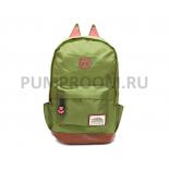 Зелёный женский рюкзак с кошачьими ушками Polyester Cat Ear Backpack Green 2016