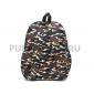 Чёрный тканевый милитари рюкзак Black Military Backpack