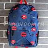 35dafa55a282 -58% Тёмно-синий рюкзак с губами Nikki Nanaomi Backpack Blue Red Lips