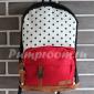 Чёрно-красный тканевый рюкзак в горошек City Walk Black Red White Dots