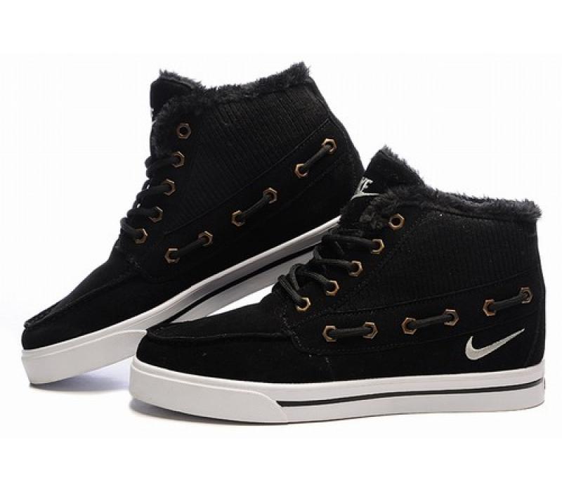 e1c83a1e9489 -67% Зимние замшевые кроссовки Nike Sweet Classic Leather Black Winter