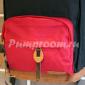 Чёрный/красный тканевый рюкзак City Walk Backpack FULL Black Red