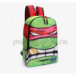 Зелёный/красный рюкзак Черепашки-ниндзя Backpack Teenage Mutant Ninja Turtles Raphael