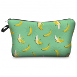 "Косметичка-пенал на молнии ""Бананы"" Cosmetic Bag Green Banana 3D"