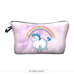 "Косметичка-пенал на молнии ""Единорог"" Cosmetic Bag My Little Unicorn 3D"