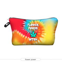 Косметичка-пенал на молнии Cosmetic Bag Flower Power 3D