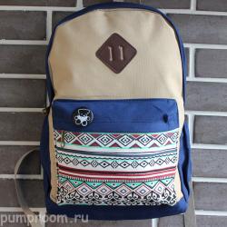 Синий городской тканевый рюкзак Backpack Teddy Aztec Blue