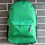 Зелёный городской рюкзак с коноплёй Backpack Citynger Marijuana Green