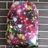 Розовый/бордовый рюкзак с космическим принтом Backpack Pink Red Starfall Galaxy 2016