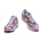 Бело-фиолетовые цветочные кроссовки Nike Air Max 90 Hyperfuse Flower White Purple Rose