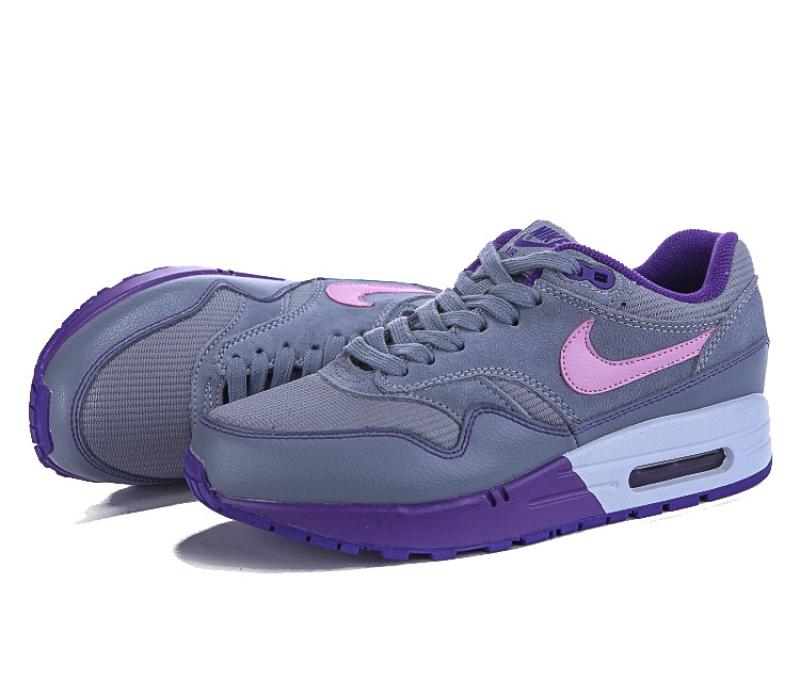 5379689f Женские серые кроссовки Nike Air Max 1 Essential Premium QS Gray Violet