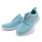 Голубые женские кроссовки Nike Women Roshe Run Light Blue Violet White