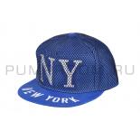 Синяя бейсболка в сетку New York Blue Snapback Net
