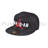 Чёрная бейсболка с прямым козырьком Air Jordan Snapback Black 23